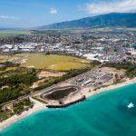 Aerial view of the city of Kahului, Maui Hawaii